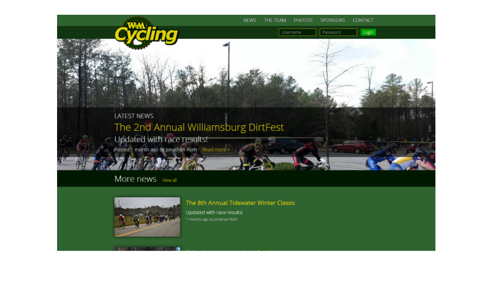 William & Mary Cycling